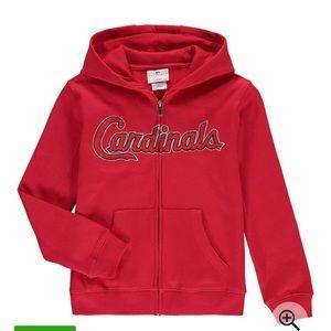 St. Louis cardinals youth zipper down hoodie